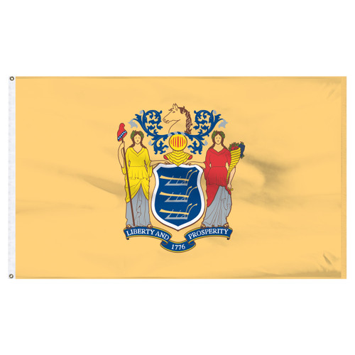 New Jersey 12ft x 18ft Nylon Flag