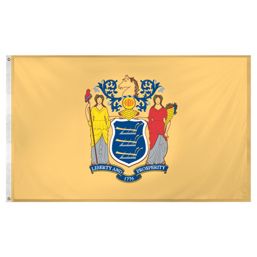 New Jersey flag 3 x 5 feet Super Knit polyester