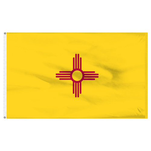 New Mexico 8ft x 12ft Nylon Flag