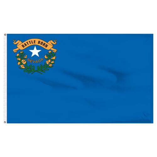 Nevada Flag 5 x 8 Feet Nylon