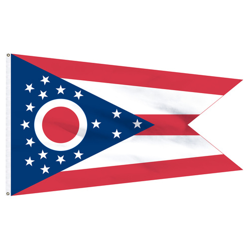 Ohio Flag 5 x 8 Feet Nylon