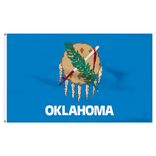 Oklahoma 8ft x 12ft Nylon Flag