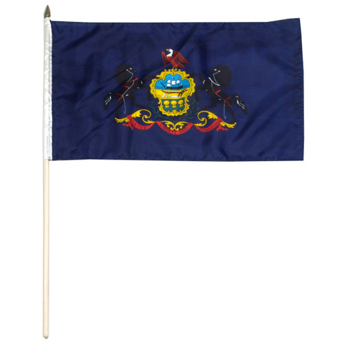 Pennsylvania stick flag 12 x 18 inch
