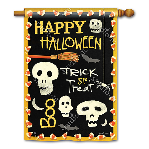 Halloween Banner Flag - Skeleton Halloween