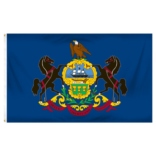 Pennsylvania 5ft x 8ft Sewn Polyester Flag