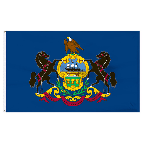 Pennsylvania flag 6 x 10 feet nylon