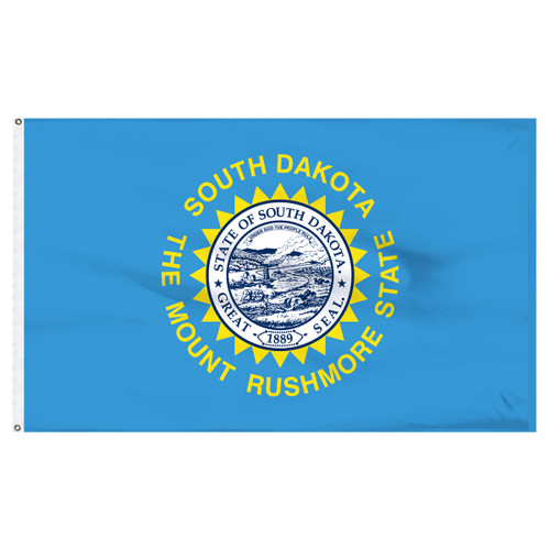 South Dakota 8ft x 12ft Nylon Flag