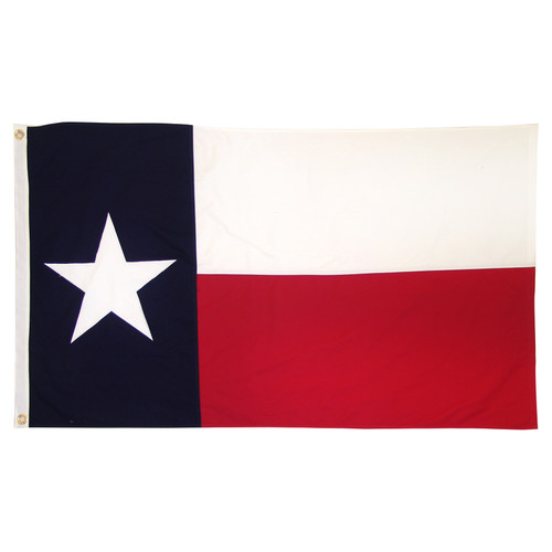 Cotton Texas flag for indoor display 3ft x 5ft
