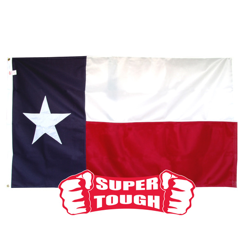 Texas Flag 4ft x 6ft Super Tough Sewn Polyester