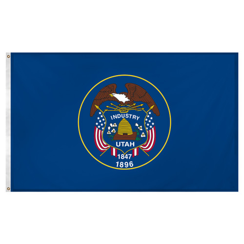 Utah flag 3 x 5 feet Super Knit polyester