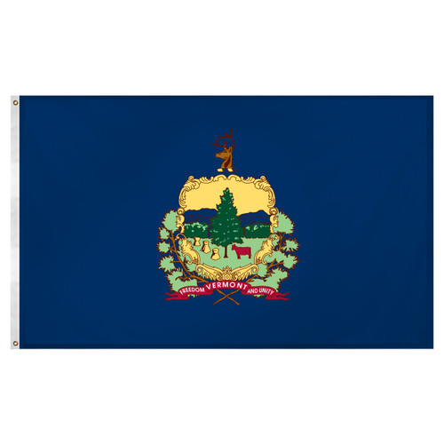 Vermont flag 3 x 5 feet Super Knit polyester