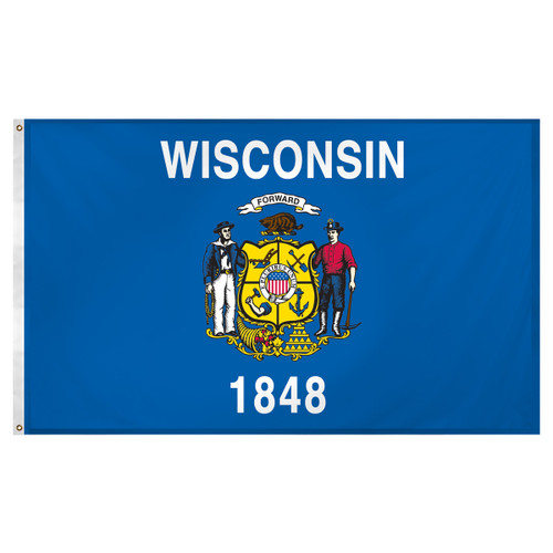Wisconsin flag 3 x 5 feet Super Knit polyester