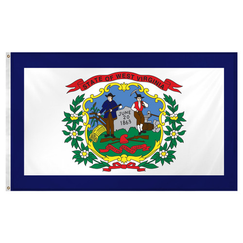 West Virginia flag 3 x 5 feet Super Knit polyester