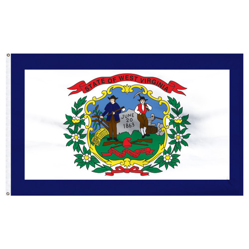 West Virginia Flag 5 x 8 Feet Nylon