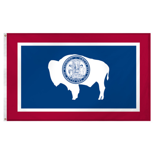 Wyoming Flag 3 x 5 Super Knit Polyester
