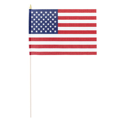 "Valley Forge US Stick Flag 12""x18"" 30"" x 5/16"" Cut No Fray Edges -US Made"