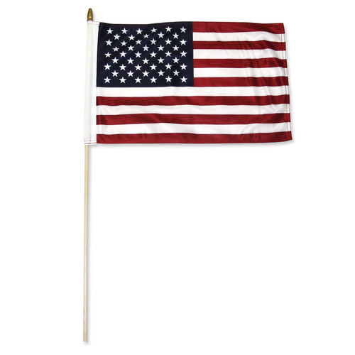 "Premium Durable US 12"" x 18"" Double Sided Stick Flag By Super Tough"