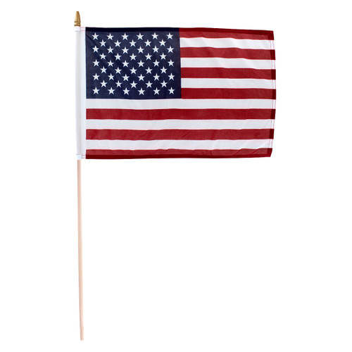 "Premium Durable US 12"" x 18"" Single Sided Stick Flag By Super Tough"