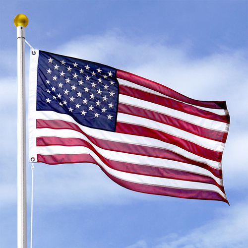 4ft x 6ft Super Tough Polyester American Flag - Imported