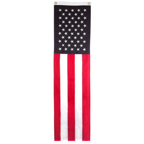 US Flag Pulldown - Online Stores Brand - 20inch x 8ft - Sewn Polyester
