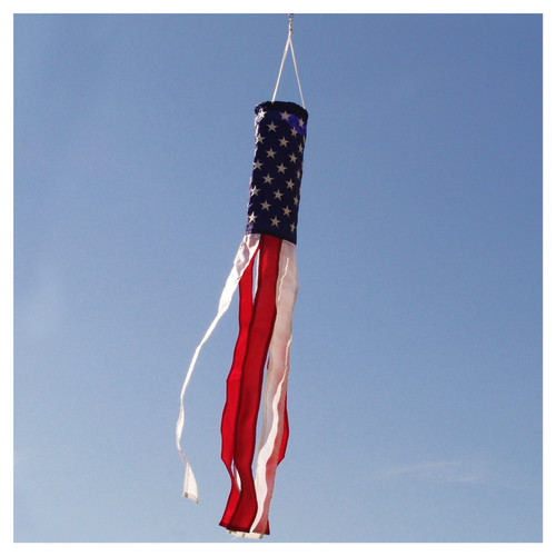 American Flag Sewn Nylon Windsock