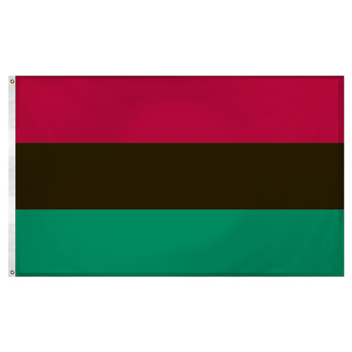 African American Flag 3ft x 5ft Super Knit Polyester