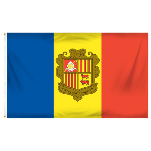 Andorra 3ft x 5ft Printed Polyester Flag