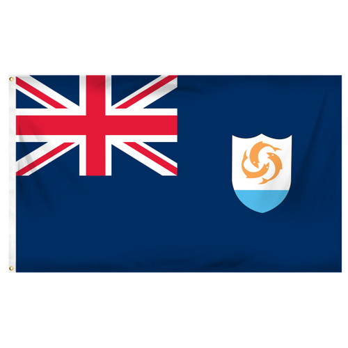 Anguilla 3ft x 5ft Printed Polyester Flag