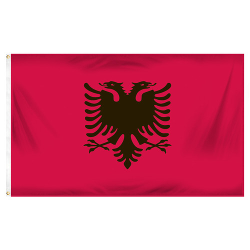Albania 3ft x 5ft Printed Polyester Flag