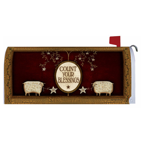 Country Mailbox Cover - Count Your Blessings