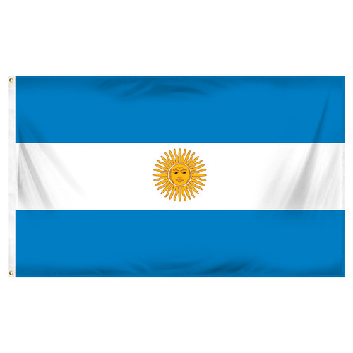 Argentina 3ft x 5ft Printed Polyester Flag