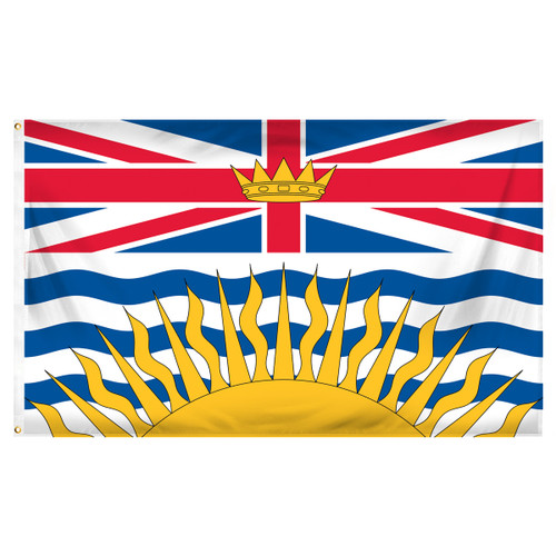 British Columbia - Canada - 3ft x 5ft Printed Polyester Flag