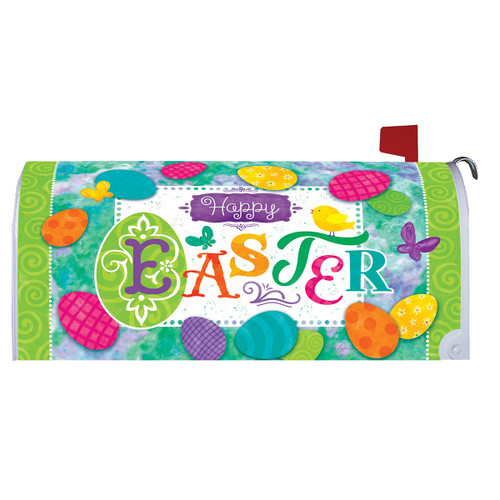 Easter Mailbox Cover - Easter Eggs