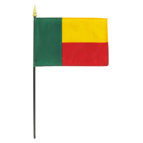 Benin 4in x 6in Stick Flag