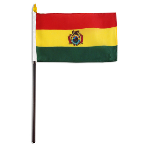 Bolivia Flag 4 x 6 inch - With Seal
