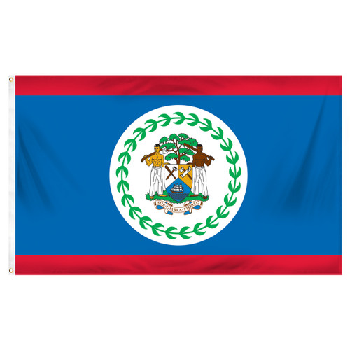 Belize 3ft x 5ft Printed Polyester Flag