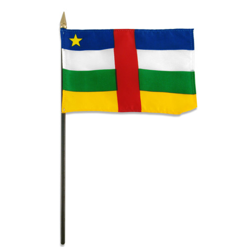 Central African Republic flag 4 x 6 inch