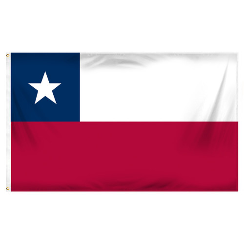 Chile 3ft x 5ft Printed Polyester Flag
