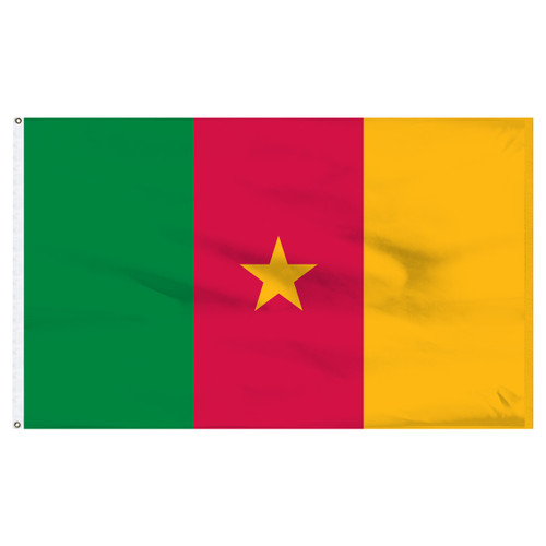 Cameroon 5ft x 8ft Nylon Flag