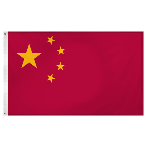 China Flag 3ft  x  5ft  Super Knit Polyester