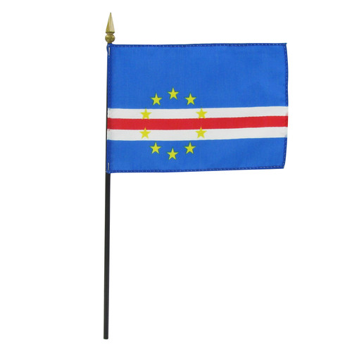 "Cape Verde 4"" x 6"" Stick Flag"