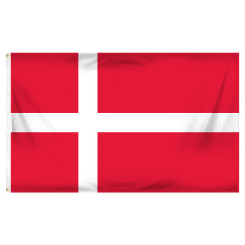Denmark 3ft x 5ft Printed Polyester Flag