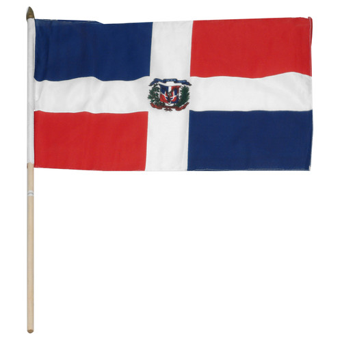 Dominican Republic flag 12 x 18 inch