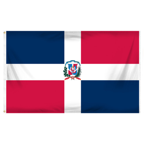 Dominican Republic 3ft x 5ft Printed Polyester Flag