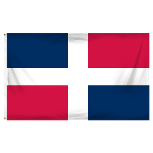 Dominican Republic 3ft x 5ft Printed Polyester Flag - No Seal