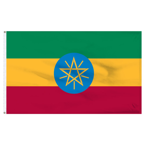 Ethiopia 5ft x 8ft Nylon Flag