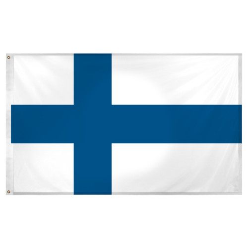 Finland Flag 3ft x 5ft Super Knit Polyester