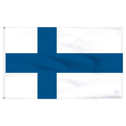 Finland Flag 5ft x 8ft Nylon