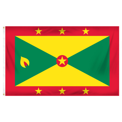 Grenada 3ft x 5ft Printed Polyester Flag