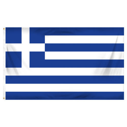 Greece 3ft x 5ft Printed Polyester Flag